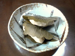 玄米粉の柏餅