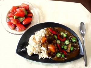 玄米の夏野菜カレー