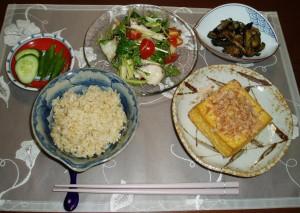 玄米の定食 夏バージョン